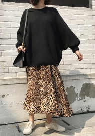Women Fashion Chiffon Leopard Print Skirts