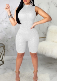 Women Fashion Sequins Sleeveless Jumpsuit Romper