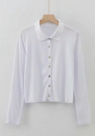Women's Casual Shirt Slim Fit Button-Down Airy Basic Blouse