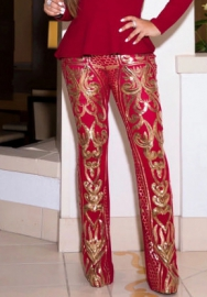 (Only Pants) Women Fashion Sequins Long Pants
