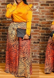 (Only Pants )Women Fashion Africa Styels Loose Wide Long Pants