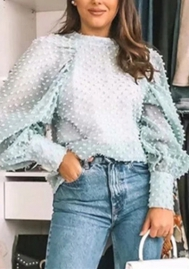 Women Fashion Puff Long Sleeve Tops