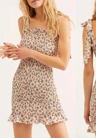 2020 Styles Women Fashion  Bohemian Print  Summer Mini Dress