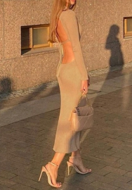 2020 Styles Women Fashion INS Styles Fashion Backless Maxi Dress