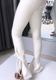 (Only Pants)2020 Styles Women Fashion INS Styles PU Long Pants