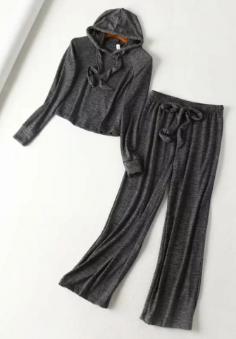 Women Fashion Hoodie Long Sleeve Tops And Long Pants Casual 2 Piece Suit